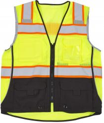 ANSI CLass 2 Premium Lime/Black Safety Vest